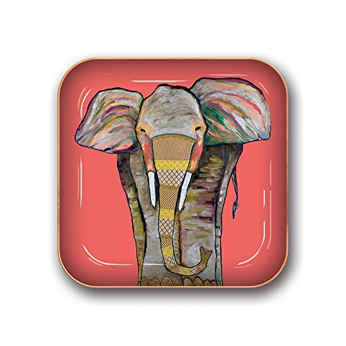 Studio Oh! Small Metal Catchall Tray Available in 12 Different Designs, Eli Halpin Elephant (Elephant Dish)