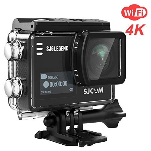 SJCAM SJ6 Legend 4K Wifi Action Camera Dual Screen- 2.0 TouchScreen/ 0.9 Front LCD Screen/ 170 Degree Wide Angel/ Gyro Stabilization/ External Microphone Supported (About Elite Vehicle)