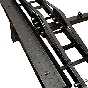 Best Choice Products SKY1375 Steel Anti-Tilt Motorcycle/Scooter/Dirtbike Hitch Mount Carrier with Rack Ramp (Hauler)