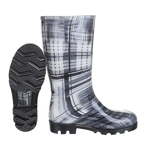 Damen Schuhe, GST-F901P, Stiefel, Regenstiefel Gummi, Gummi, Blau, Gr 40
