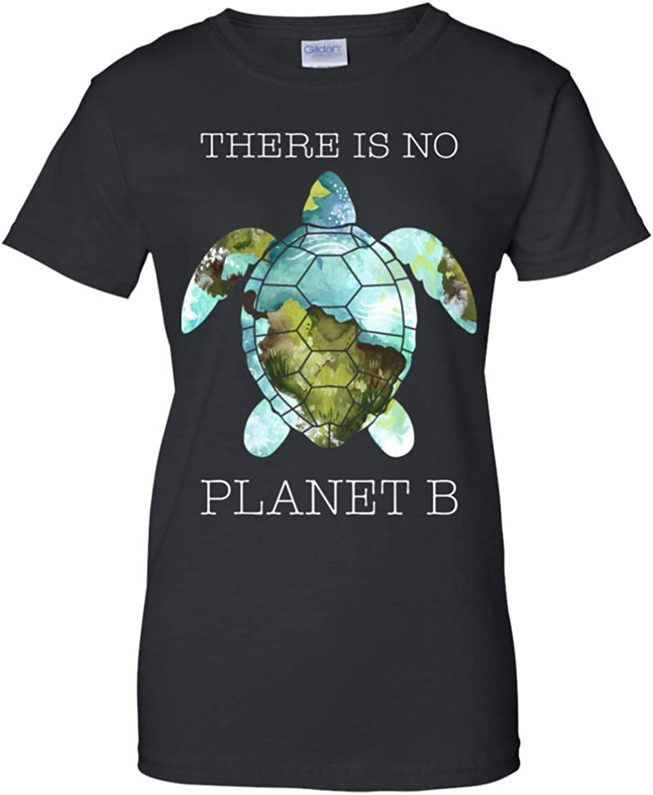 There is No Planet B Hippie Turtle Earth T-Shirt