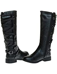 Ladies Riding Boot With Lace Up Back Strap (See More Colors & Sizes)