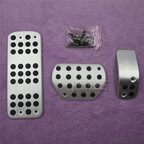 LSYBB Car Gas Foot Rest Modified Pedal Pad Plate for Peugeot 207 301 307 208 2008 308 408 cc/Citroen C3 C4/DS 3 4 6 DS3 DS4 DS6,AT3PCS
