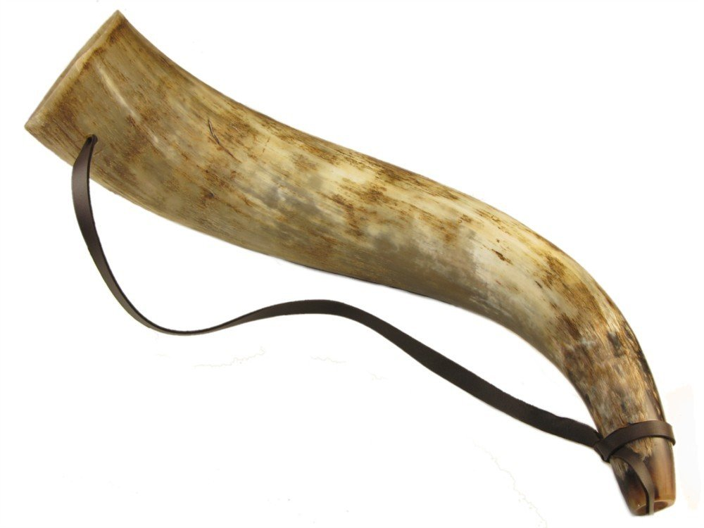 Traditionally Handcrafted Ox Horn Bugle Trumpet Hunting - 3 sizes Available