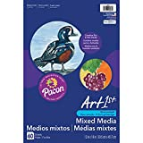 Pacon PAC4843 Art1st Mixed Media Art Paper, 12'' x 18'', White, 60 Sheets