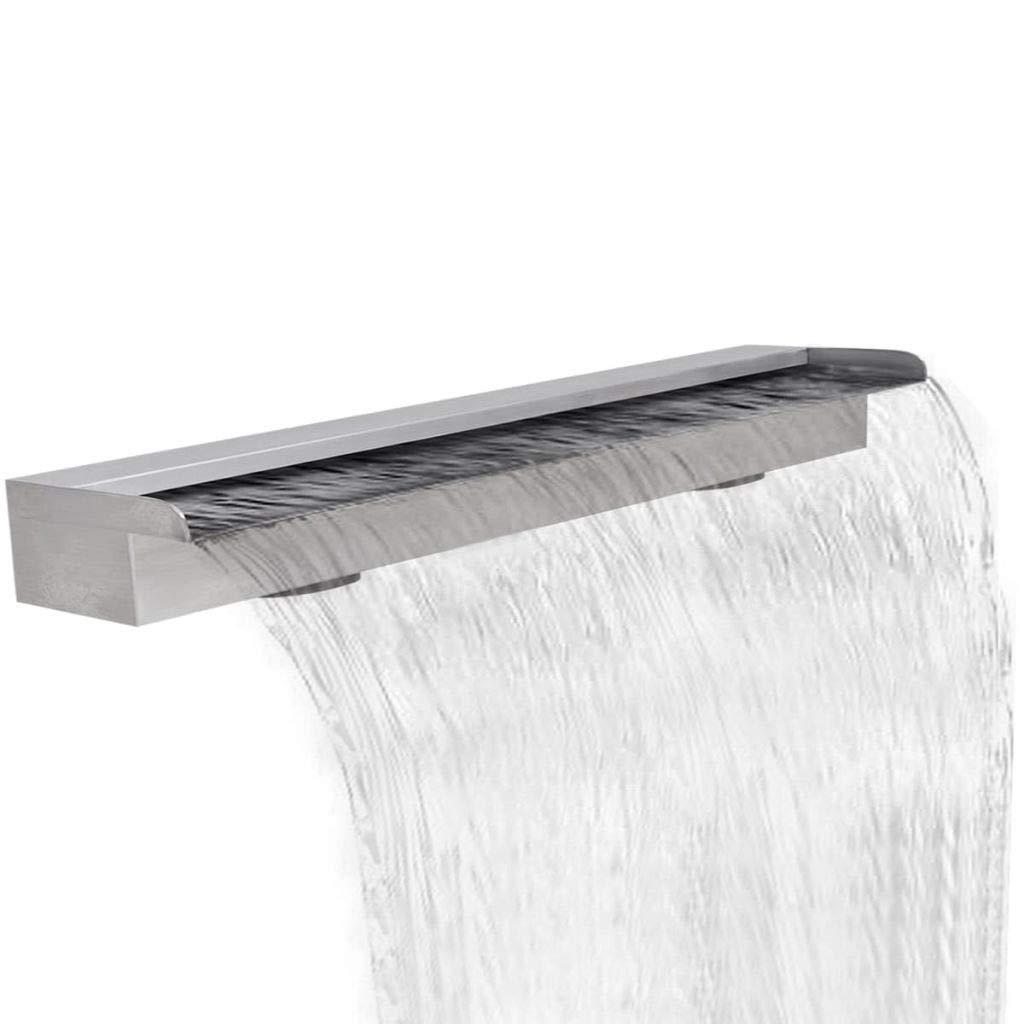 JBDSupply Rectangular Waterfall Pool Fountain Stainless Steel 59inch (41670)