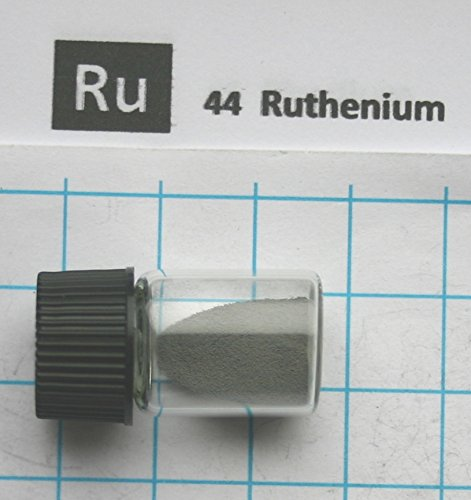 Pure element 44 Sample Free Shipping 1 gram 99.992/% Ruthenium Metal Powder in Glass Vial