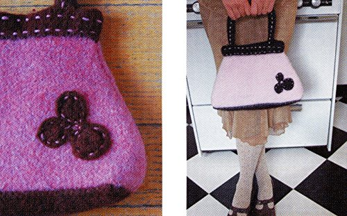 Felted Purse Pattern - Triangle - A Felted Purse - Pick Up Sticks Knitting Pattern - Easy Knit