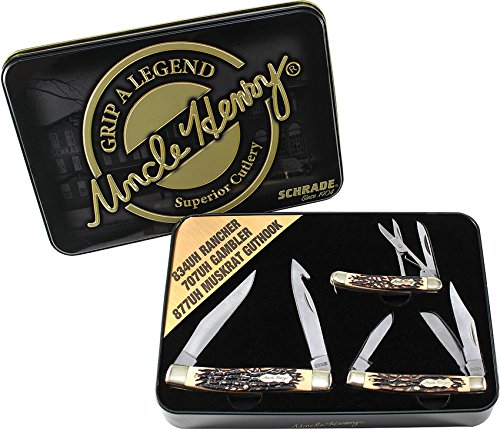 Schrade Uncle Henry 2015 Gift Tin Set
