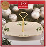 Lenox Holiday Archive Dessert Plate with Handle, Ivory