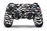 PS4 Controller Designer Skin for Sony PlayStation 4 DualShock Wireless Controller Zebra White Review
