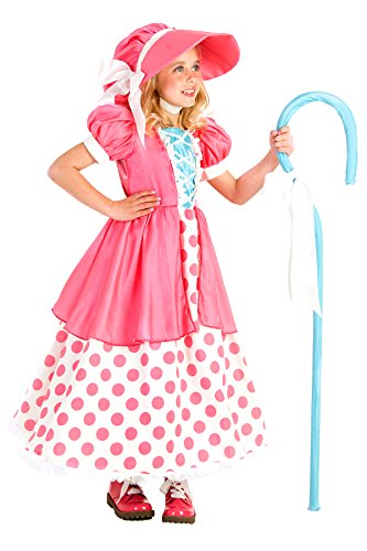 Princess Paradise Polka Dot Bo Peep Costume, Multicolor, Small/6 ()