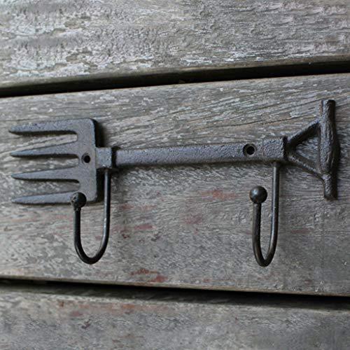 CJH Vintage Cast Iron Crafts Wrought Iron Tool Hook Shovel Garden Home ()