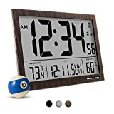 Cheap Marathon CL030062WD Slim-Jumbo Atomic Digital Wall Clock with Temperature, Date and Humidity