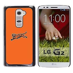 Tiger minimalista - Metal de aluminio y de plástico duro Caja del teléfono - Negro - LG G2