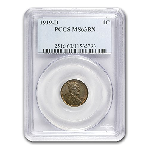 1919 D Lincoln Cent MS-63 PCGS (Brown) Cent MS-63 PCGS