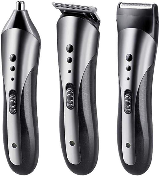 Profesional 6-en-1 de múltiples funciones de las podadoras de pelo del condensador de ajuste eléctrico del pelo de la barba del condensador de ajuste recargable del condensador de ajuste del pelo equi:
