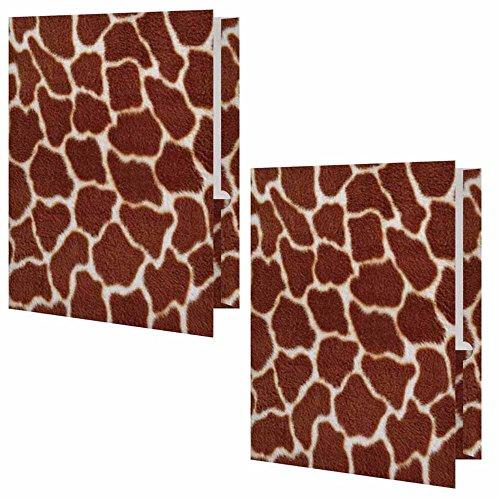 Giraffe Animal Print Presentation File Folder - Set of - Animal Stationery Print