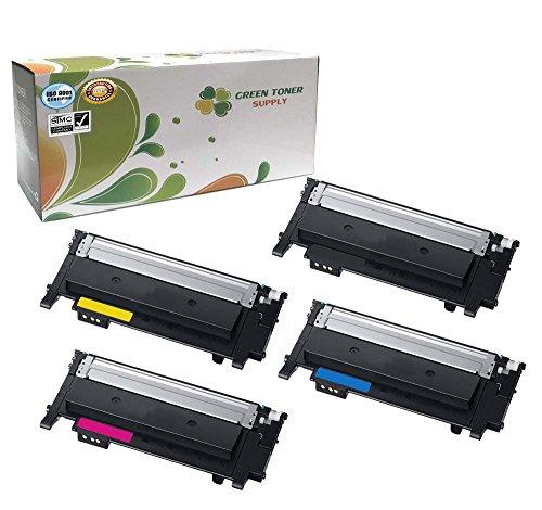 Green Toner Supply (TM) New Compatible [Samsung CLT-K404S,CLT-404S,CLT-Y404S,CLT-M404S] 4 Color LaserJet Toner Cartridges for Samsung Xpress C430,C430W,C480,C480W