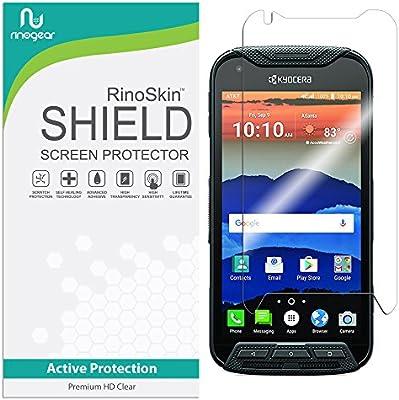 RinoGear Kyocera Duraforce Pro Screen Protector Case Friendly Screen  Protector for Kyocera Duraforce Pro Accessory Full Coverage Clear Film