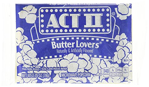 Act Ii Butter Lovers Microwave Popcorn (30 packs of 1 oz)
