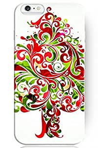 ZLXUSA(TM) Special Design Pattern Hard Funny for Apple iPhone 6 (4.7 Inches) Case Floral Christmas Tree