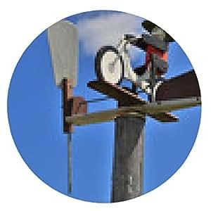 alfombrilla de ratón Los ciclistas con unidad de turbina eólica - ronda - 20cm