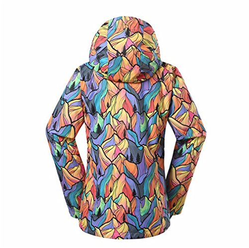 Faisspos Windproof colorful Print Women's Sports Outdoor Ski Jacket 1 M by Faisspos (Image #2)
