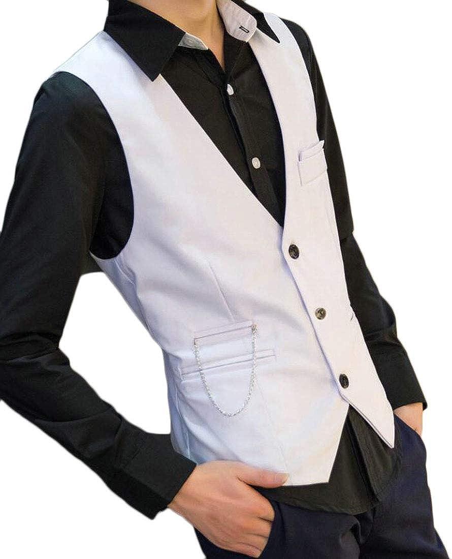 Rrive Mens Classic Formal Slim Business Sleeveless Dress Suit Vest Waistcoat