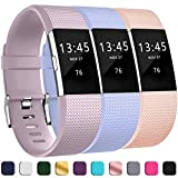 GEAK Replacement Bands for Fitbit Charge 2, Adjustable Classic Wristbands for Fitbit Charge 2, Small Lavender Lilac Pink