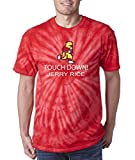 "Silo Shirts TIE DIE Red San Francisco Rice ""Tecmo Touchdown"" T-Shirt"