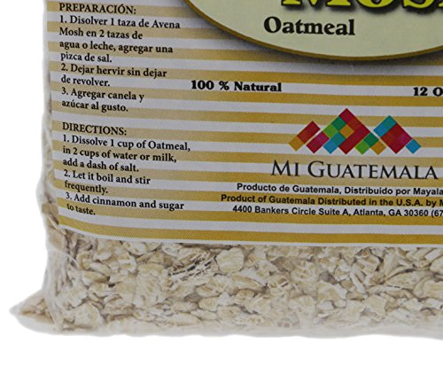 Amazon.com : Mi Guatemala Whole Oats Oatmeal 12oz - Hojuelas de Avena (Pack of 18) : Grocery & Gourmet Food