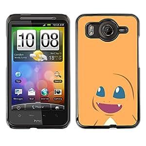 EJOY---Cubierta de la caja de protección la piel dura para el / HTC G10 / --Monstruo lindo naranja empuje