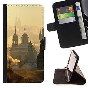 For LG G2 D800 Case , Ciudad del Vaticano nubes del amanecer- la tarjeta de Crédito Slots PU Funda de cuero Monedero caso cubierta de piel