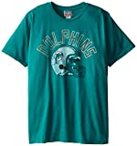 NFL Miami Dolphins Men's Kick Off Crew Tee, Teal, Large