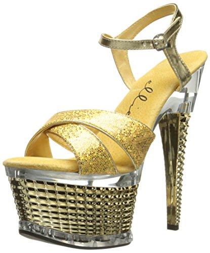649 Ellie Gold Women's Platform Sandal Disco Shoes wHHqrE