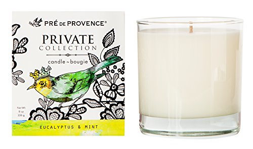 (Pre de Provence Private Collection Fragrant Candle - Eucalyptus and Mint)