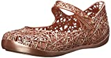 Mini Melissa Campana Zig Zag Slip On Flat (Toddler), Bronze, 5 M US Toddler