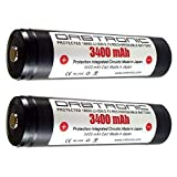 Best 18650 Battery Button Tops - 3400mAh 18650 Battery ORBTRONIC PROTECTED Button Top Rechargeable Review