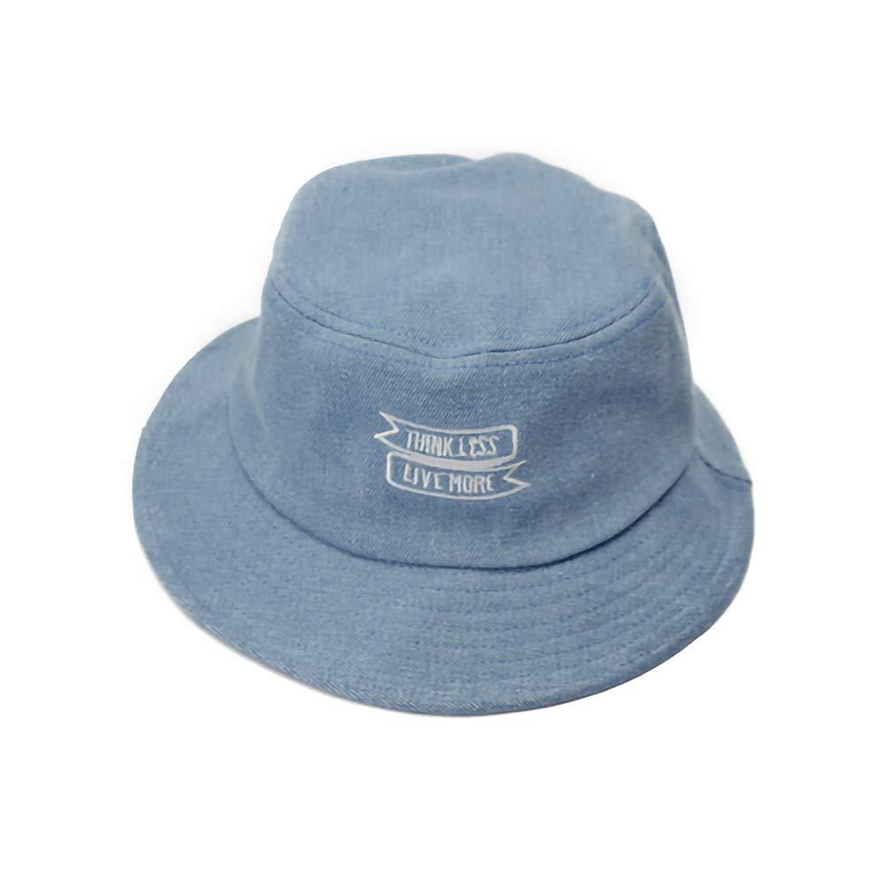 Jungle Lawer Sombrero Unisex Bordado alfab/ético del Dril de algod/ón del Color Puro Sombrero del Lavabo de la sombrilla Sombrero del Sol Sombrero al Aire Libre Plegable del Sol de Verano Azul Claro