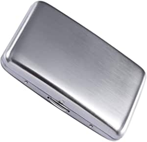 Stainless Steel Rfid Blocking Credit Card Holder for Men Women - Stylish Travel Wallet - Best Protection for Your Cards Against Rfid Scanning - Cool Slim Metal Business Card Case