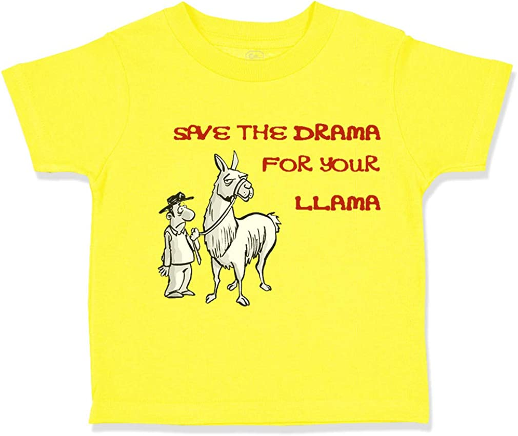 Custom Toddler T-Shirt Black Lama Red Save Drama for Your Boy /& Girl Clothes