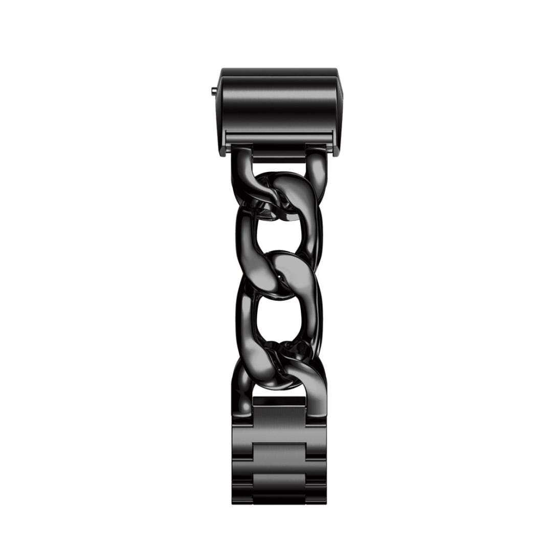 Wristband Watch Strap For Fitbit charge 2 Smart Watch,Saying Brand New Stainless Steel Watch Band Wrist strap (Black)