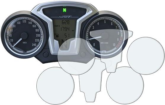 R Nine T Displayschutzfolie Tachoschutzfolie 1 X Ultra Klar 1 X Entspiegelt Auto