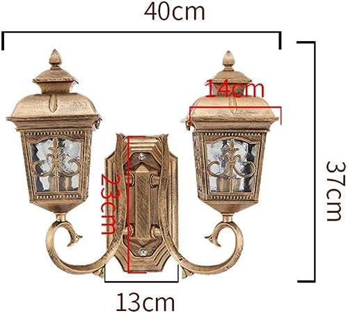 Lucs - Lámpara de Pared con 2 Luces de Aluminio para Pared, Cristal – Día Cromado, no Control Inteligente – El jardín de la Ciudad – Proceso de Fuego Exterior (Impermeable): Amazon.es: Hogar