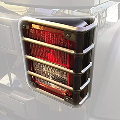 Allinoneparts Tail Light Guards Covers For Rear Taillights 2007-2016 Jeep Wrangler JK