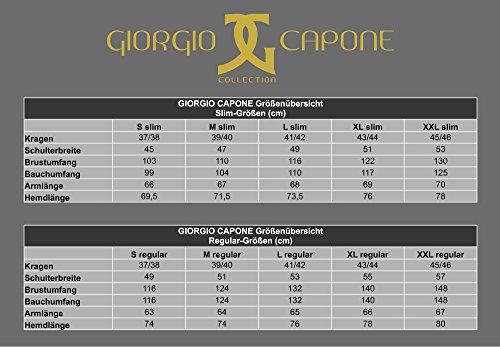 Giorgio Capone Herrenhemd, 100% Baumwolle, Kariert, Blau-Lila, Slim & Regular Fit