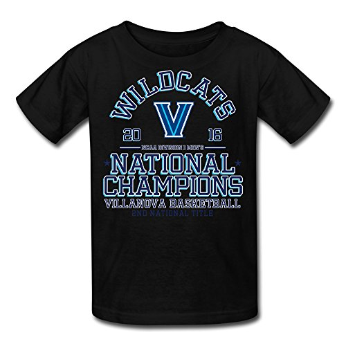 Youth Villanova Wildcats 2016 Basketball National Champions T-Shirt - Black