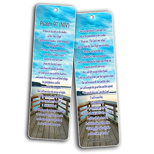 Bible Verse Bookmarks - Psalm Bookmarks - NIV Version (30-Pack) - Religious Christian Inspirational Gifts to Encourage Men Women Boys Girls - Bible Study Sunday School War Room Decor by NewEights (Image #2)