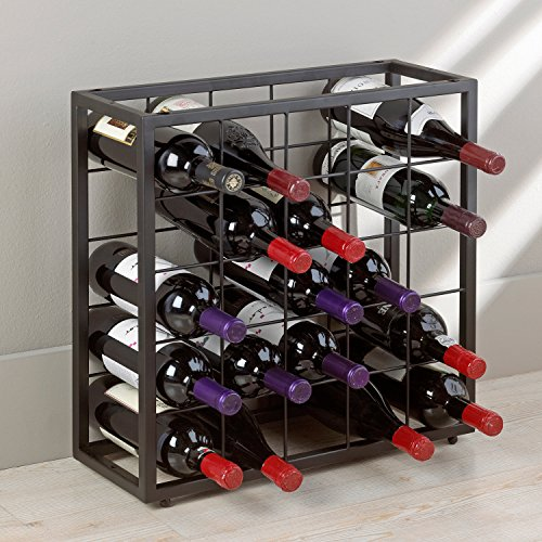 Best The Wine Enthusiast Wine Racks - Wine Enthusiast Black Steel 25 Bottle